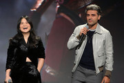 (L-R) Kelly Marie Tran and Oscar Isaac of 'Star Wars: The Rise of Skywalker' took part today in the Walt Disney Studios presentation at Disney's D23 EXPO 2019 in Anaheim, Calif.  'Star Wars: The Rise of Skywalker' will be released in U.S. theaters on December 20, 2019.