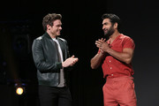 (L-R) Richard Madden and Kumail Nanjiani of 'The Eternals' took part today in the Walt Disney Studios presentation at Disney's D23 EXPO 2019 in Anaheim, Calif.  'The Eternals' will be released in U.S. theaters on November 6, 2020.