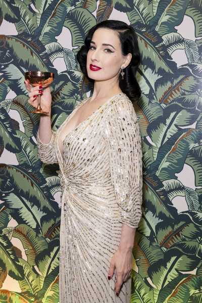 Dita Von Teese And The Copper Coupe At The Box Soho