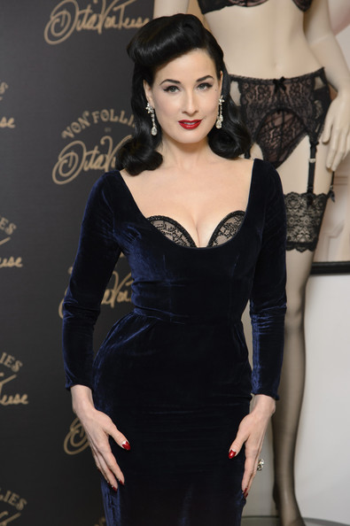 dita von teese launches her new lingerie range at debenhams zimbio. Black Bedroom Furniture Sets. Home Design Ideas