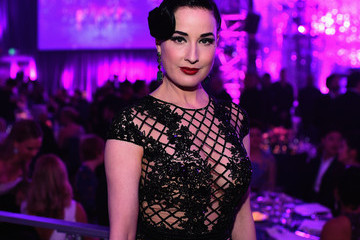 Dita Von Teese Inside the Elton John AIDS Foundation Oscars Viewing Party — Part 2