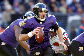 Antonio Smith Joe Flacco Divisional Playoffs - Houston Texans v Baltimore Ravens