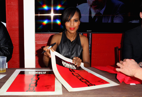 "Actress Kerry Washington attends ""Django Unchained"" Old West Town at Comic-Con on July 14, 2012 in San Diego, California."
