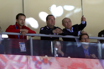 Dmitry Medvedev Ice Hockey - Winter Olympics Day 9