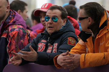 Dmitry Medvedev Bobsleigh - Winter Olympics Day 16