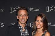 "Seth Meyers and wife Alexi Ashe attend the New York screening for ""Documentary Now!"" at New World Stages on August 18, 2015 in New York City."