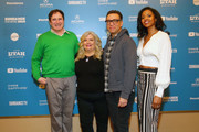 """(L-R) Richard Kind, Paula Pell, Fred Armisen, and Renee Elise Goldsberry attend the """"Documentary Now"""" Red Carpet, Screening And After Party during the 2019 Sundance Film Festival at The Egyptian Theatre on January 27, 2019 in Park City, Utah."""