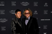 Evangelo Bousis and Peter Dundas attend Fashion Trust Arabia Gala at the Fire Station on March 28, 2019 in Doha, Qatar.