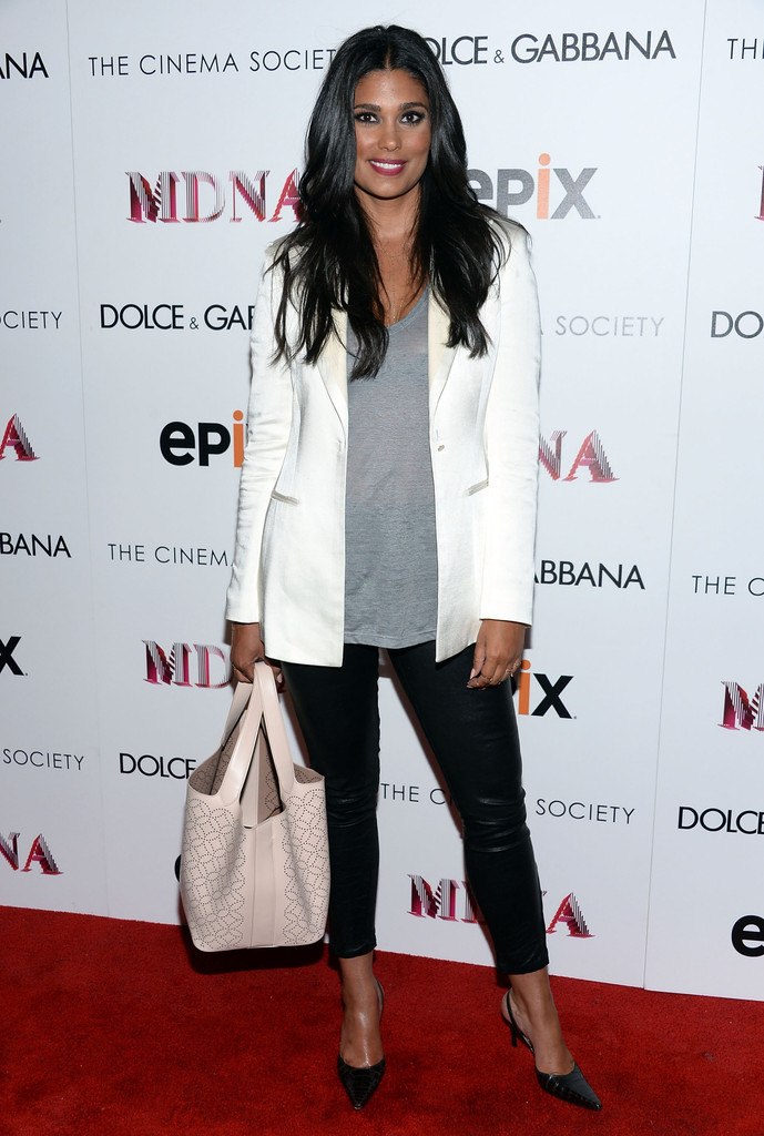 Designer Rachel Roy.attends the Dolce & Gabbana and The Cinema Society screening of the Epix World premiere of 'Madonna: The MDNA Tour' at The Paris Theatre on June 18, 2013 in New York City.