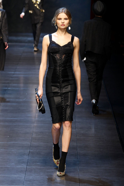 Model Magdalena Frakowiak walks the runway during the Dolce & Gabbana show as part of Milan Fashion Week Womenswear Autumn/Winter 2011 on February 27, 2011 in Milan, Italy.