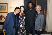 Ken Jeong, Elisa Pugliese, Craig Robinson and Scott Alexander attend the 'Dolemite Is My Name' John Davis Hosted Tastemaker at a Private Residence on November 19, 2019 in Beverly Hills, California.