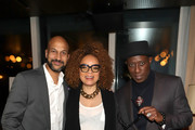Keegan-Michael Key, Ruth E. Carter and Wesley Snipes attend the Dolemite Is My Name! LA Tastemaker at Soho House on January 03, 2020 in West Hollywood, California.