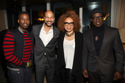 Christopher Windham,  Keegan-Michael Key, Ruth E. Carter and Wesley Snipes attend the Dolemite Is My Name! LA Tastemaker at Soho House on January 03, 2020 in West Hollywood, California.