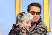 """Emma Thompson and Robert Downey Jr attend the """"Dolittle"""" special screening at Cineworld Leicester Square on January 25, 2020 in London, England."""
