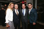 Jason Binn, Mayor Philip Levine and Eric Podwall (R) attend the Dom Perignon and Eric Podwall celebration of the evening before The White House Correspondents' Dinner at Fiola Mare on May 2, 2014 in Georgetown, Washington.