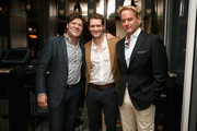 Greg Calejo, Matthew Morrison and Daniel Benedict attend the Dom Perignon and Eric Podwall host of the evening before The White House Correspondents' Dinner at Fiola Mare on May 2, 2014 in Georgetown, Washington.