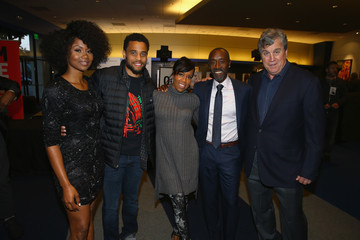 Don Cheadle Emayatzy Corinealdi  Premiere of Sony Pictures Classics' 'Miles Ahead' - Red Carpet
