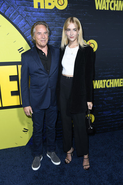 """Premiere Of HBO's """"Watchmen"""" - Arrivals [premiere,yellow,event,outerwear,carpet,flooring,style,watchmen,arrivals,don johnson,grace johnson,los angeles,california,the cinerama dome,hbo,premiere]"""