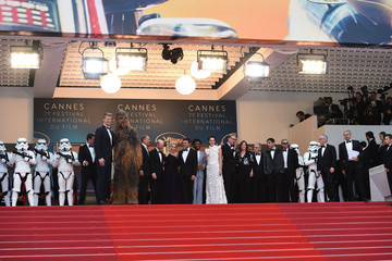 Donald Glover Emilia Clarke European Premiere of 'Solo: A Star Wars Story' At the Palais Des Festivals During The 71st International Cannes Film Festival