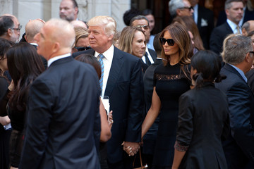 Donald Trump Joan Rivers Memorial Service