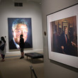 Donald Trump Trump Portrait Exhibited As National Portrait Gallery Reopens To Public