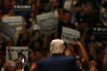 Donald Trump Donald Trump Holds Campaign Rally in Anaheim, CA