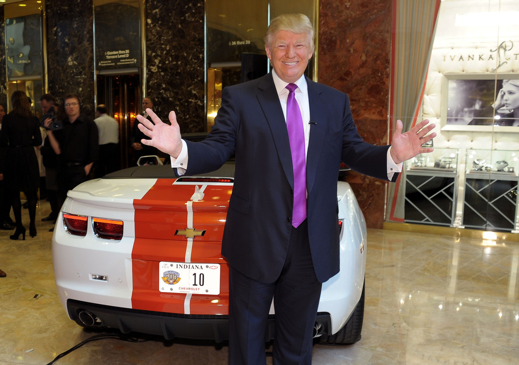 donald trump in donald trump named celebrity pace car driver for 100th indy 500 zimbio. Black Bedroom Furniture Sets. Home Design Ideas
