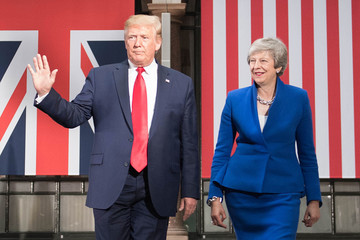 Donald Trump Theresa May US President Trump's State Visit To UK - Day Two