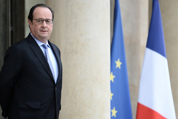 Donald Tusk Francois Hollande French President Francois Hollande Receives Donald Tusk, President of The European Council, At Elysee Palace In Paris