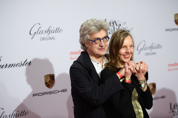 Donata Wenders Wim Wenders Glashuette Original Day 3 at the 68th Berlinale International Film Festival