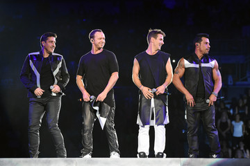 Donnie Wahlberg Joey McIntyre New Kids On The Block, TLC And Nelly Tour Opener At Mandalay Bay In Las Vegas