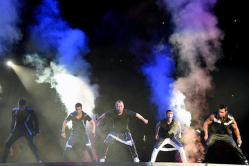 Donnie Wahlberg Jordan Knight New Kids On The Block, TLC And Nelly Tour Opener At Mandalay Bay In Las Vegas