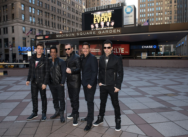 New Kids on the Block Press Conference [snapshot,urban area,pedestrian,street,city,metropolitan area,architecture,infrastructure,photography,night,joey mcintyre,jordan knight,jonathan knight,danny wood,donnie wahlberg,new kids on the block press conference,new kids on the block,photo,madison square garden,press conference]