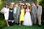 "(L-R) Q'orianka Kilcher, Madeleine Madden, Jeff Wahlberg, Eugenio Derbez, Eva Longoria, Danny Trejo, Isabela Moner, Michael Peña, and Nicholas Coombe attend the ""Dora and the Lost City of Gold"" World Premiere at the  Regal LA Live on July 28, 2019 in Los Angeles, California."