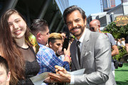 "Eugenio Derbez (R) attends the ""Dora and the Lost City of Gold"" World Premiere at the  Regal LA Live on July 28, 2019 in Los Angeles, California."