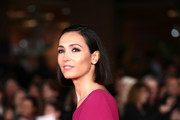 """Caterina Balivo attends the """"Downton Abbey"""" red carpet during the 14th Rome Film Festival on October 19, 2019 in Rome, Italy."""