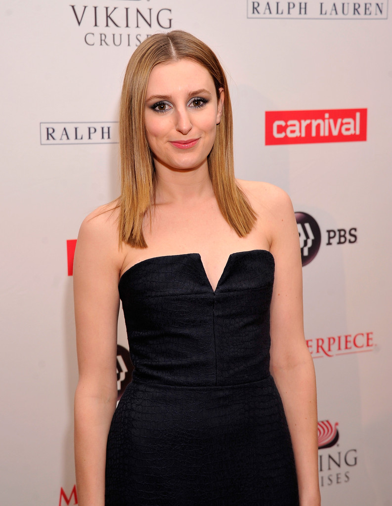 "Actress Laura Carmichael attends the  ""Downton Abey"" Season four cast photo call at Millenium Hotel on December 10, 2013 in New York City."
