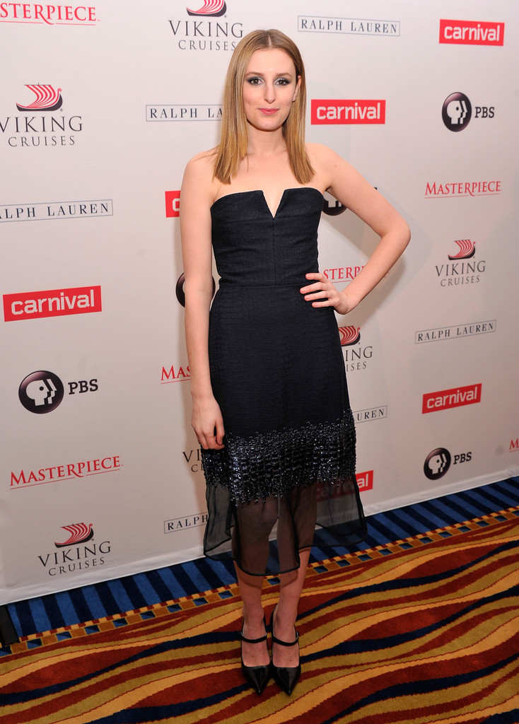 """Actress Laura Carmichael attends the  """"Downton Abey"""" Season four cast photo call at Millenium Hotel on December 10, 2013 in New York City."""