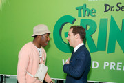 "Tyler the Creator and Benedict Cumberbatch attend ""Dr. Seuss' The Grinch"" New York premiere at Alice Tully Hall, Lincoln Center on November 3, 2018 in New York City."