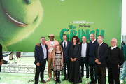 "Tyler the Creator, Benedict Cumberbatch, Cameron Seely, Chris Meledandri, Michael LeSieur, Chris Renaud and executives attend ""Dr. Seuss' The Grinch"" New York premiere at Alice Tully Hall, Lincoln Center on November 3, 2018 in New York City."