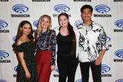 "(L-R) Aimee Carrero, AJ Michalka, Lauren Ash and Marcus Scribner attend DreamWorks ""She-Ra and the Princesses of Power"" ˆat WonderCon at Anaheim Convention Center on March 30, 2019 in Anaheim, California."
