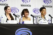"(L-R) Lauren Ash, Karen Fukuhara, and Marcus Scribner speak onstage during DreamWorks ""She-Ra and the Princesses of Power"" ˆat WonderCon at Anaheim Convention Center on March 30, 2019 in Anaheim, California."