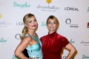 Regina Halmich and Tina Ruland the Dreamball 2014 at Ritz Carlton on September 11, 2014 in Berlin, Germany.