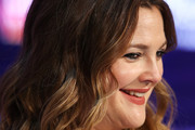 Drew Barrymore speaks during the FLOWER Beauty launch at Westfield Parramatta on April 13, 2019 in Sydney, Australia.