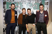 (L-R) Drew Scott, Jeremiah Brent, Nate Berkus and Jonathan Scott celebrate the premier Issue of New Meredith Corporation's lifestyle publication Reveal at Meredith, INC on January 09, 2020 in New York City.