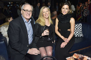 (L-R) Jay Shulman, Lisa Shulman and Kate Beckinsale attend DuJour Cover Star Kate Beckinsale Celebrates Spring Issue With CEO And Founder Jason Binn Presented by Paul Chevalier of Whispering Angel at PhD (Dream Downtown Hotel Rooftop) on February 28, 2019 in New York City.