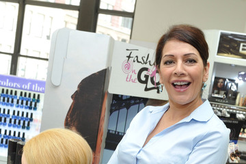 Marina Sirtis Duane Reade Celebrates Fashion-On-The-Go Hair Styling Services