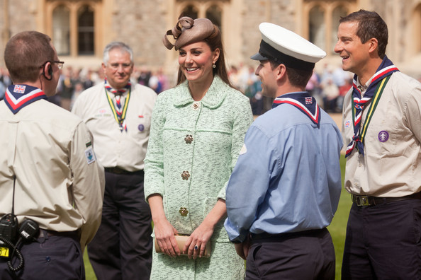 Kate Middleton Steps Out in a Mint Green Coat and Curlicue Hat
