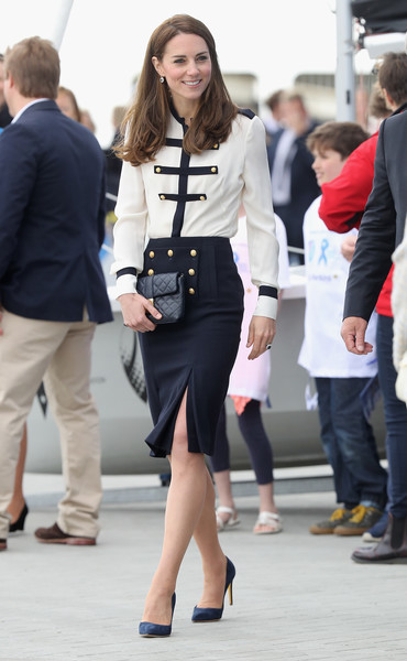 The Duchess Of Cambridge Visits Land Rover BAR And The 1851 Trust