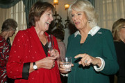 Camilla, Duchess of Cornwall speaks to Dame Penelope Wilton during a reception to celebrate the launch of the 'Our Amazing People' campaign at Clarence House on October 17, 2017 in London, England. The Duchess of Cornwall is an advocate of active ageing and the welfare of the older generation. Her Royal Highness has been President of the Royal Voluntary Service since 2012 and became patron of The Silver Line, a helpline for elderly people, as part of her 70th birthday celebrations this summer.